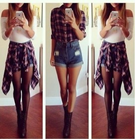 Charming Winter Outfits Ideas High Waisted Shorts32