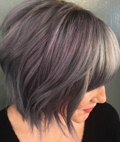 Cute Layered Bob Hairstyles Ideas23