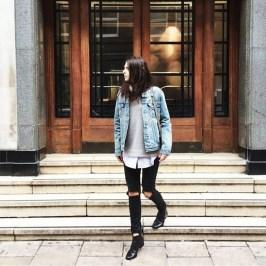 Delightful Winter Outfits Ideas Denim Jacket09