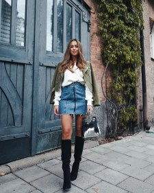 Fancy Winter Outfits Ideas Jean Skirts10