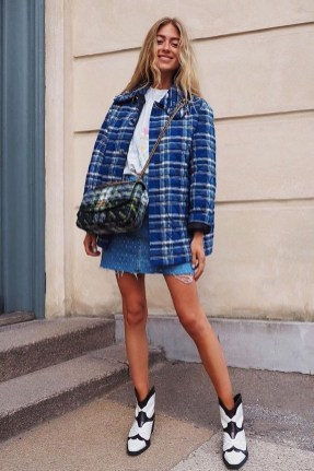 Fancy Winter Outfits Ideas Jean Skirts15