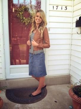 Fancy Winter Outfits Ideas Jean Skirts24