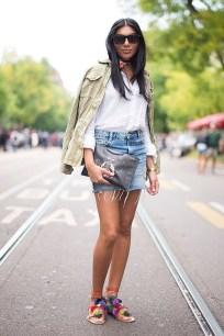 Fancy Winter Outfits Ideas Jean Skirts31
