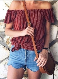 Fascinating Scalloped Clothing Ideas For Summer Outfits02