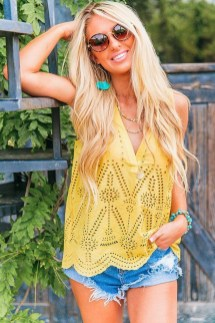 Fascinating Scalloped Clothing Ideas For Summer Outfits41