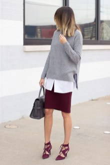 Incredible Skirt And Blouse This Fall Ideas10