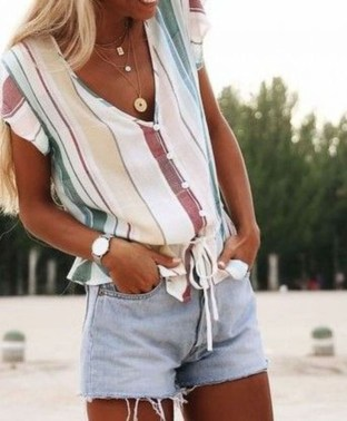 Perfect Wearing Summer Shorts Ideas34