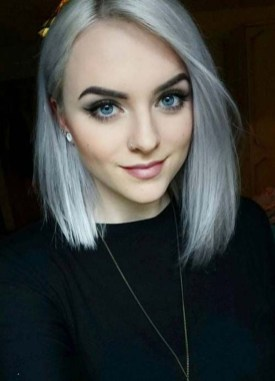 Pretty Grey Hairstyle Ideas For Women35