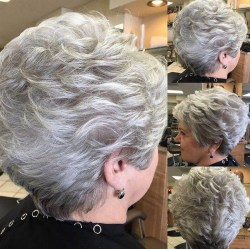 Pretty Grey Hairstyle Ideas For Women37