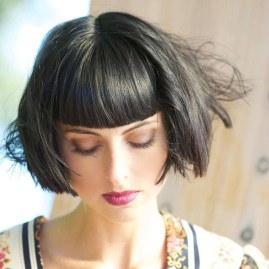 Pretty Hairstyle With Bangs Ideas02