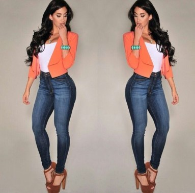 Pretty Winter Outfits Ideas High Waisted Pants18