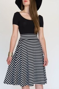 Wonderful Midi Skirt Outfit Ideas For Spring And Summer 201801
