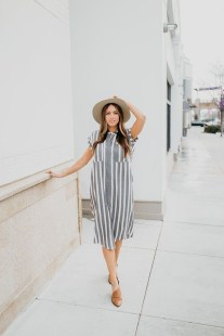Wonderful Midi Skirt Outfit Ideas For Spring And Summer 201802