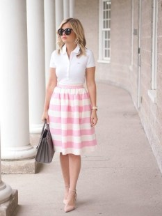 Wonderful Midi Skirt Outfit Ideas For Spring And Summer 201804