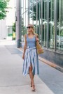 Wonderful Midi Skirt Outfit Ideas For Spring And Summer 201810