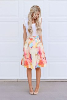 Wonderful Midi Skirt Outfit Ideas For Spring And Summer 201839