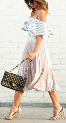 Wonderful Midi Skirt Outfit Ideas For Spring And Summer 201848