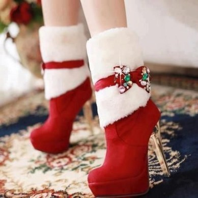 Charming Christmas Heels Ideas For Cute Women25