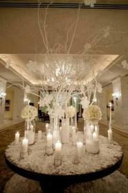 Classy Winter Wonderland Wedding Centerpieces Ideas21