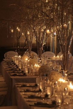 Classy Winter Wonderland Wedding Centerpieces Ideas34