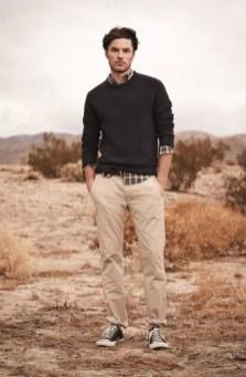 Cozy Plaid Shirt Outfit Christmas Ideas For Handsome Mens15