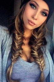 Cute Christmas Braided Hairstyles Ideas29
