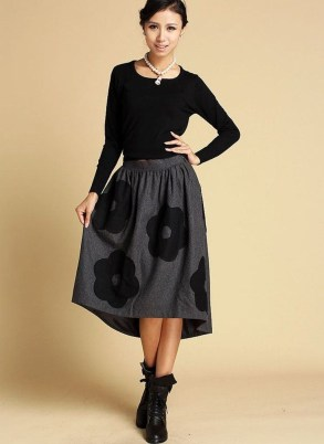 Elegant Midi Skirt Winter Ideas08