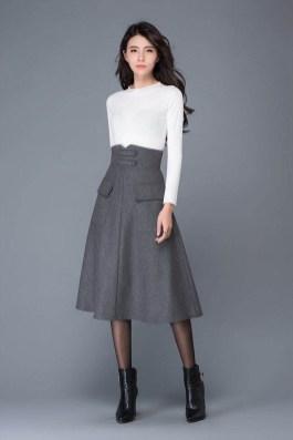 Elegant Midi Skirt Winter Ideas16