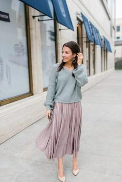 Elegant Midi Skirt Winter Ideas45