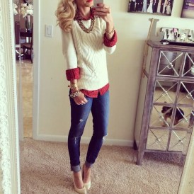 Incredible Holiday Style Christmas Outfit Ideas39