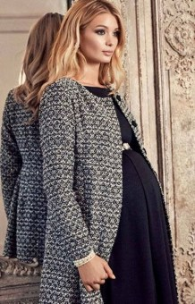 Lovely Maternity Winter Outfits Ideas30