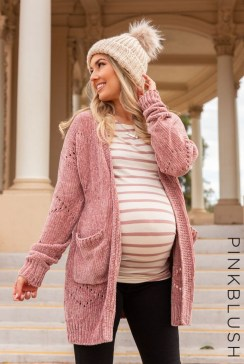 Lovely Maternity Winter Outfits Ideas34