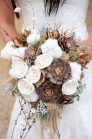 Modern Rustic Winter Wedding Flowers Ideas03