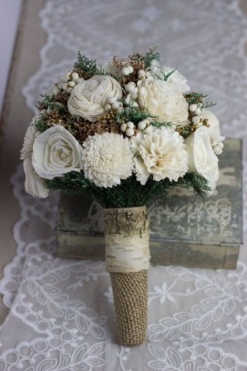Modern Rustic Winter Wedding Flowers Ideas14
