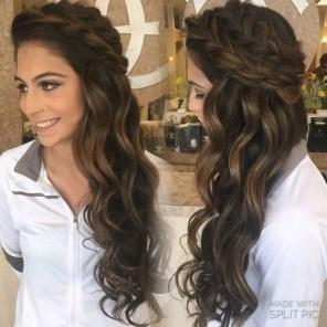 Popular Christmas Half Updos Ideas05