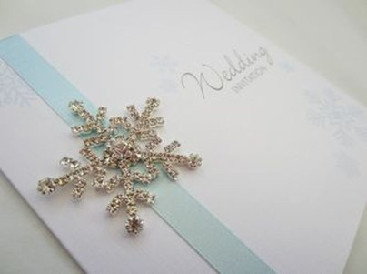Popular Winter Wonderland Wedding Invitations Ideas13