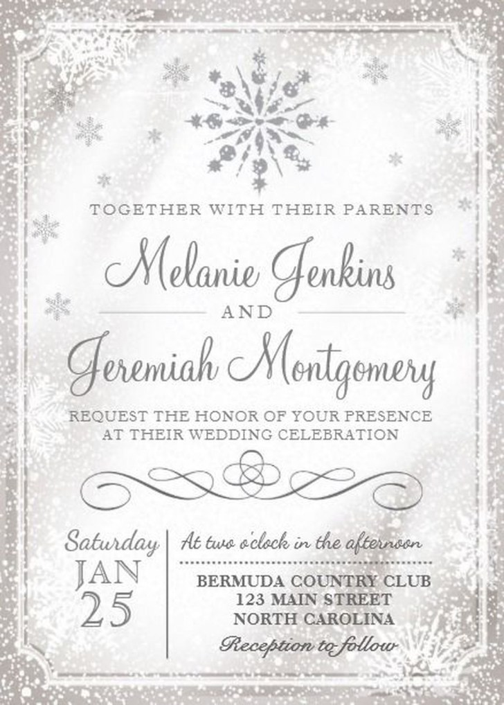 Popular Winter Wonderland Wedding Invitations Ideas16