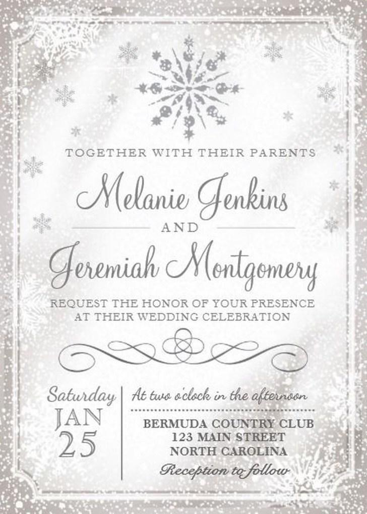Popular Winter Wonderland Wedding Invitations Ideas16