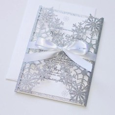 Popular Winter Wonderland Wedding Invitations Ideas17