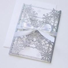 Popular Winter Wonderland Wedding Invitations Ideas17