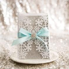 Popular Winter Wonderland Wedding Invitations Ideas19