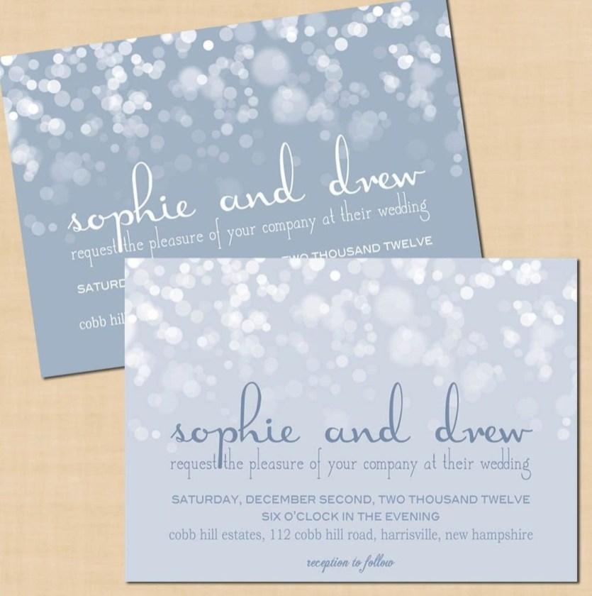 Popular Winter Wonderland Wedding Invitations Ideas35