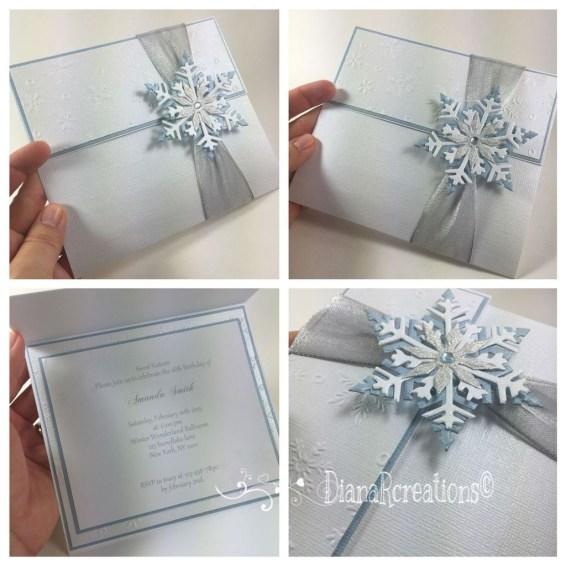 Popular Winter Wonderland Wedding Invitations Ideas39