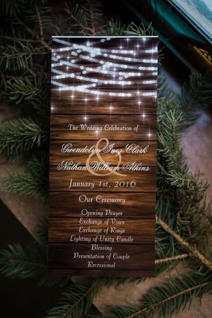 Romantic Rustic Winter Wedding Invitations Ideas11