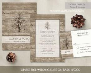 Romantic Rustic Winter Wedding Invitations Ideas20