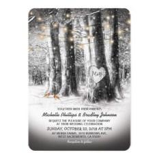 Romantic Rustic Winter Wedding Invitations Ideas24