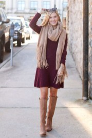 Amazing Winter Dresses Ideas With Boots06