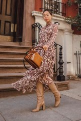 Amazing Winter Dresses Ideas With Boots28