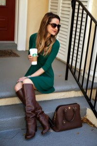Amazing Winter Dresses Ideas With Boots31