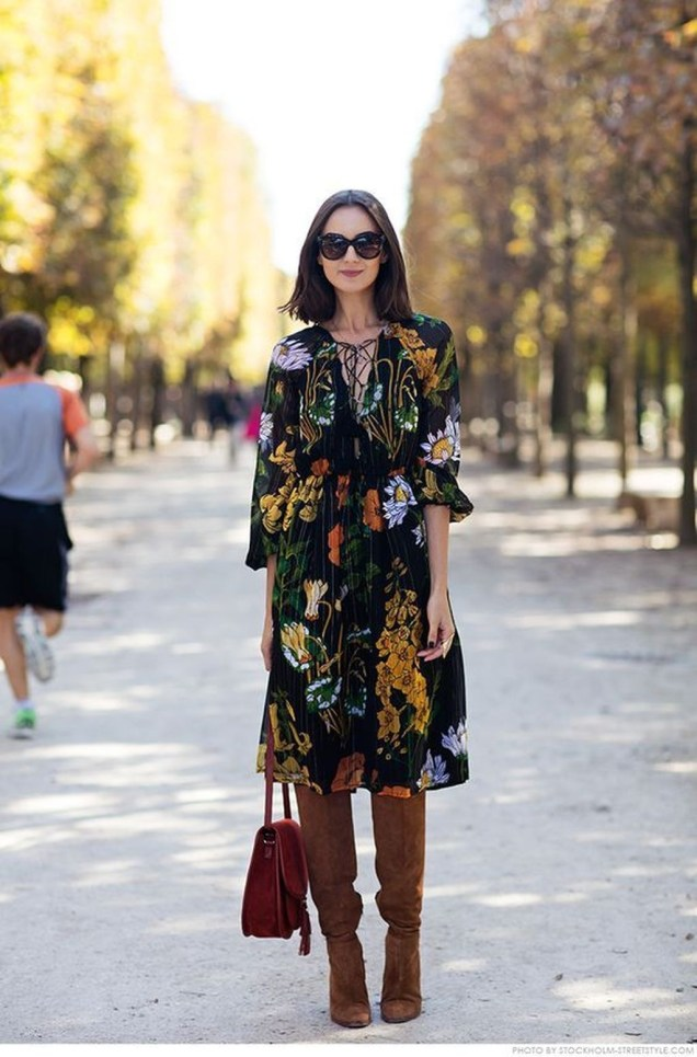 Amazing Winter Dresses Ideas With Boots40
